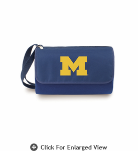 Picnic Time Blanket Tote - Navy Blue University of Michigan Wolverines