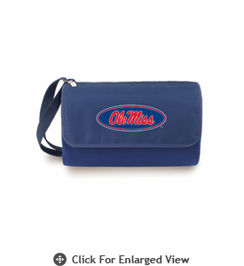 Picnic Time Blanket Tote - Navy Blue University of Mississippi Rebels