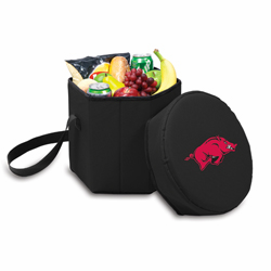 Picnic Time Bongo Cooler 12 Qt. Black University of Arkansas Razorbacks
