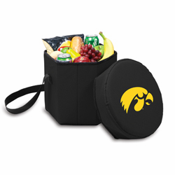 Picnic Time Bongo Cooler 12 Qt. Black University of Iowa Hawkeyes