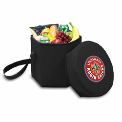 Picnic Time Bongo Cooler 12 Qt. Black University of Louisiana Ragin Cajuns