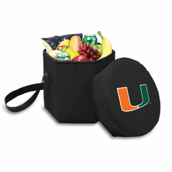 Picnic Time Bongo Cooler 12 Qt. Black University of Miami Hurricanes