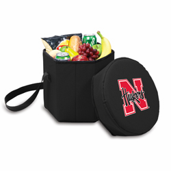 Picnic Time Bongo Cooler 12 Qt. Black University of Nebraska Cornhuskers
