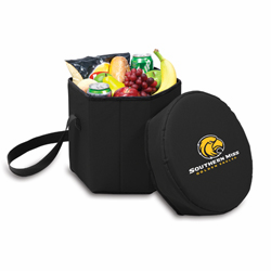 Picnic Time Bongo Cooler 12 Qt. Black University of Southern Mississippi Golden Eagles
