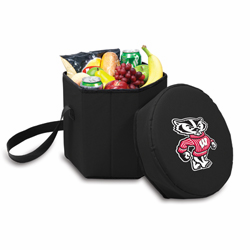 Picnic Time Bongo Cooler 12 Qt. Black University of Wisconsin Badgers