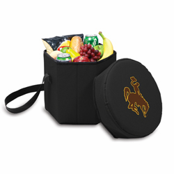 Picnic Time Bongo Cooler 12 Qt. Black University of Wyoming Cowboys