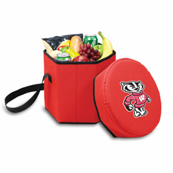 Picnic Time Bongo Cooler 12 Qt. Red University of Wisconsin Badgers
