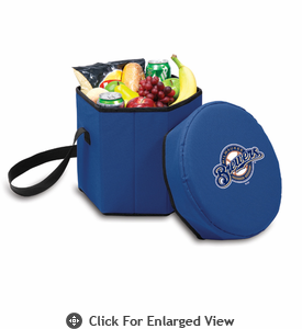 Picnic Time Bongo Cooler - Navy Blue Milwaukee Brewers
