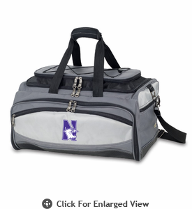 Picnic Time Buccaneer Embroidered Northwestern University Wildcats