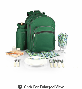Picnic Time Capri Picnic Backpack for 2 Hunter Green