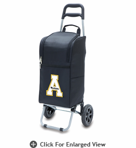 Picnic Time Cart Cooler Black Appalachian State Mountaineers