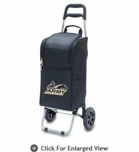 Picnic Time Cart Cooler Black Army US Military Academy Black Knights
