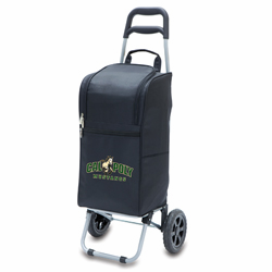 Picnic Time Cart Cooler Black Cal Poly Mustangs