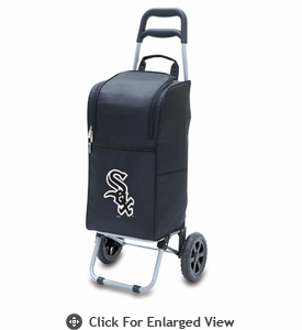 Picnic Time Cart Cooler - Black Chicago White Sox