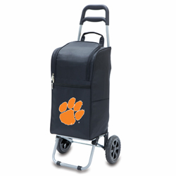 Picnic Time Cart Cooler Black Clemson University Tigers