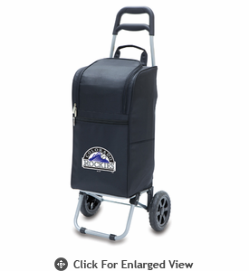 Picnic Time Cart Cooler - Black Colorado Rockies