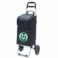 Picnic Time Cart Cooler Black Colorado State University Rams