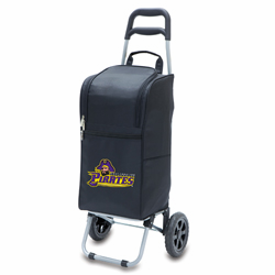 Picnic Time Cart Cooler Black East Carolina Jolly Roger