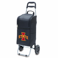 Picnic Time Cart Cooler Black Iowa State University Cyclones