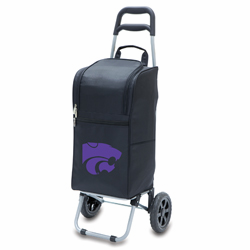 Picnic Time Cart Cooler Black Kansas State University Wildcats
