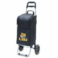 Picnic Time Cart Cooler Black Louisiana State University Tigers