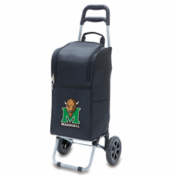 Picnic Time Cart Cooler Black Marshall University Thundering Herd