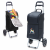 Picnic Time Cart Cooler - Black Miami Marlins