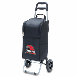 Picnic Time Cart Cooler Black Miami University Redhawks