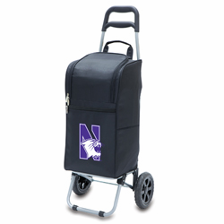 Picnic Time Cart Cooler Black Northwestern University Wildcats