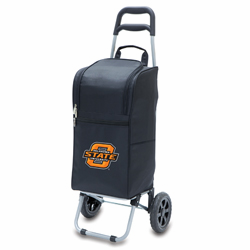 Picnic Time Cart Cooler Black Oklahoma State University Cowboys