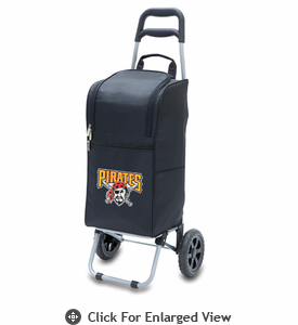 Picnic Time Cart Cooler - Black Pittsburgh Pirates