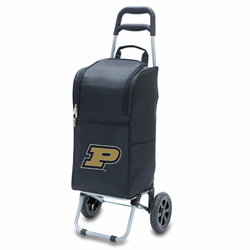 Picnic Time Cart Cooler Black Purdue University Boilermakers