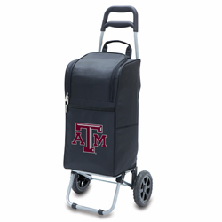 Picnic Time Cart Cooler Black Texas A and M Aggies