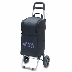 Picnic Time Cart Cooler Black Texas Christian University Horned Frogs