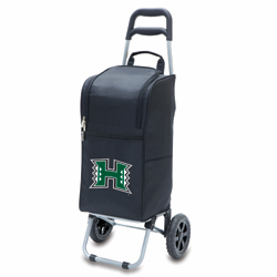 Picnic Time Cart Cooler Black University of Hawaii Warriors