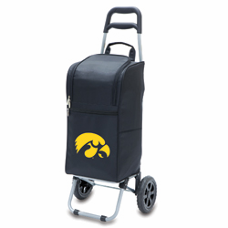 Picnic Time Cart Cooler Black University of Iowa Hawkeyes