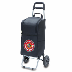 Picnic Time Cart Cooler Black University of Louisiana Ragin Cajuns