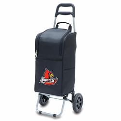 Picnic Time Cart Cooler Black University of Louisville Cardinals