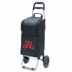 Picnic Time Cart Cooler Black University of Minnesota Golden Gophers