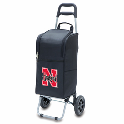 Picnic Time Cart Cooler Black University of Nebraska Cornhuskers