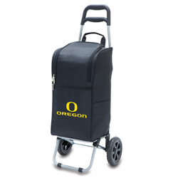 Picnic Time Cart Cooler Black University of Oregon Ducks