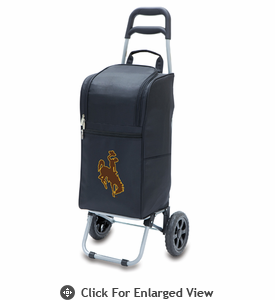 Picnic Time Cart Cooler Black University of Wyoming Cowboys