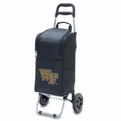 Picnic Time Cart Cooler Black Wake Forest University Demon Deacons