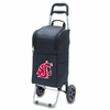 Picnic Time Cart Cooler Black Washington State University Cougars