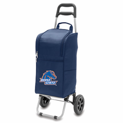 Picnic Time Cart Cooler Navy Blue Boise State University Broncos