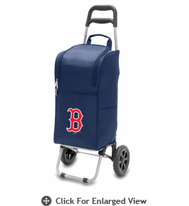 Picnic Time Cart Cooler - Navy Blue Boston Red Sox