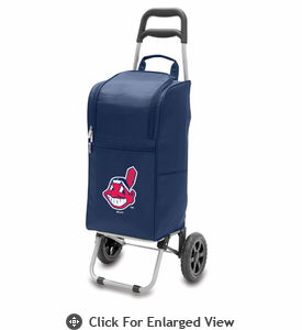 Picnic Time Cart Cooler - Navy Blue Cleveland Indians