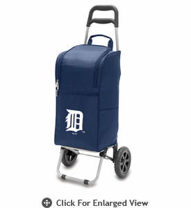 Picnic Time Cart Cooler - Navy Blue Detroit Tigers