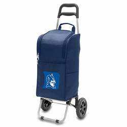 Picnic Time Cart Cooler Navy Blue Duke University Blue Devils