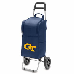 Picnic Time Cart Cooler Navy Blue Georgia Tech Yellow Jackets